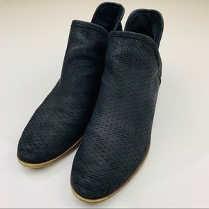Lucky Brand Brooklin Perforated Booties Size 9.5